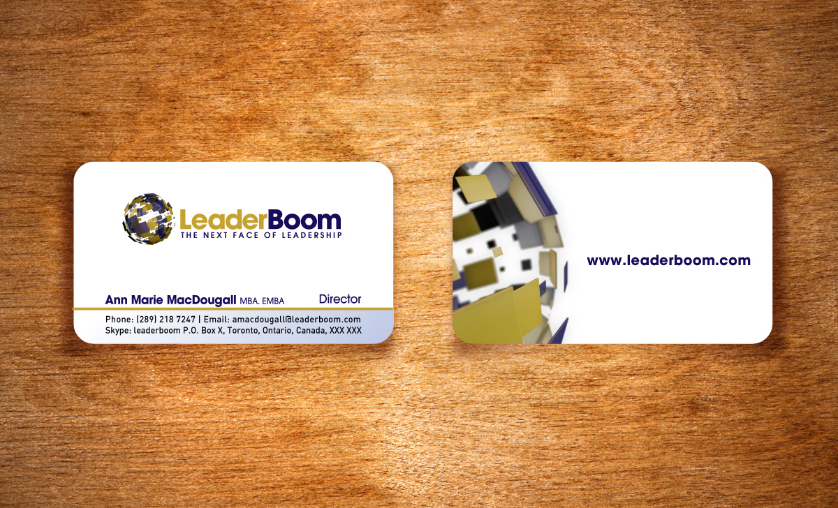 Business card design print services toronto leaderboom business card design magicingreecefo Choice Image