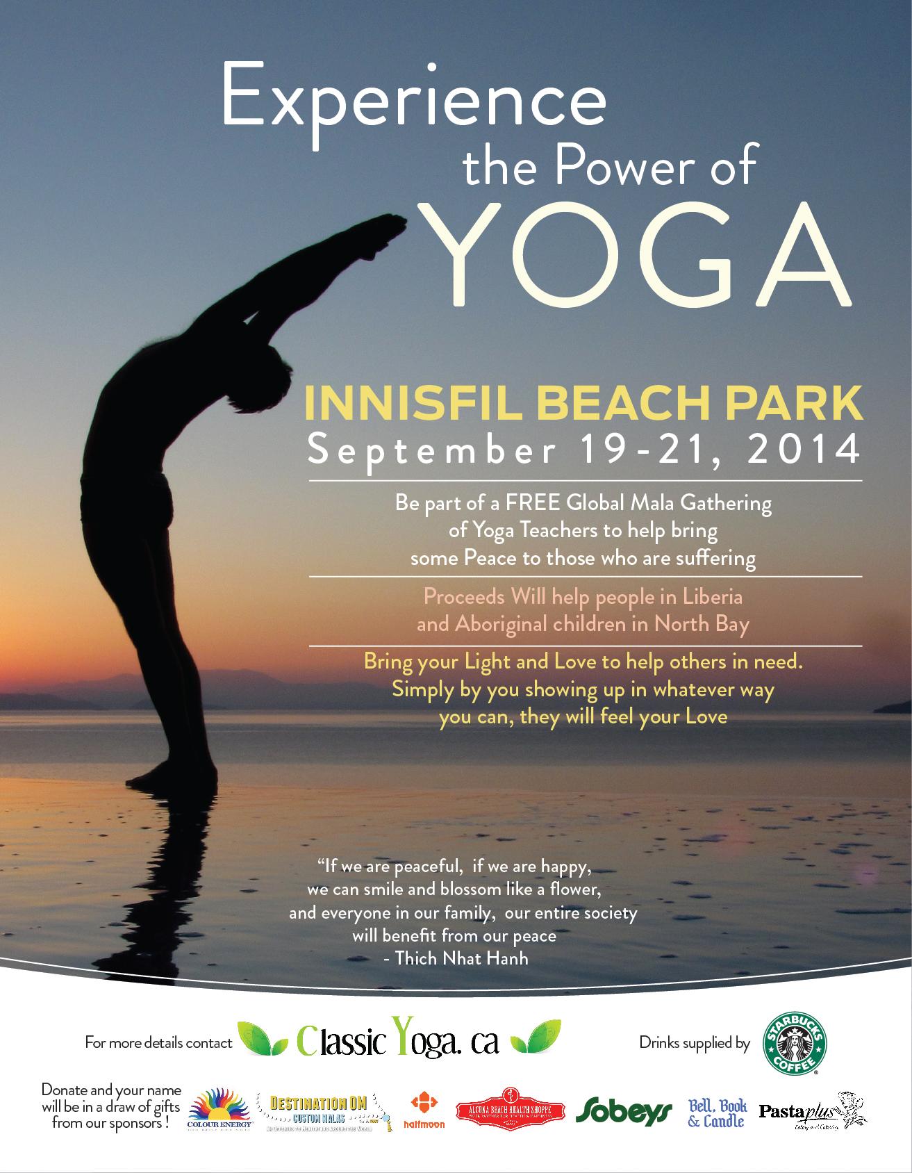 Global Mala 2014 Yoga Flyer Innisfil ON