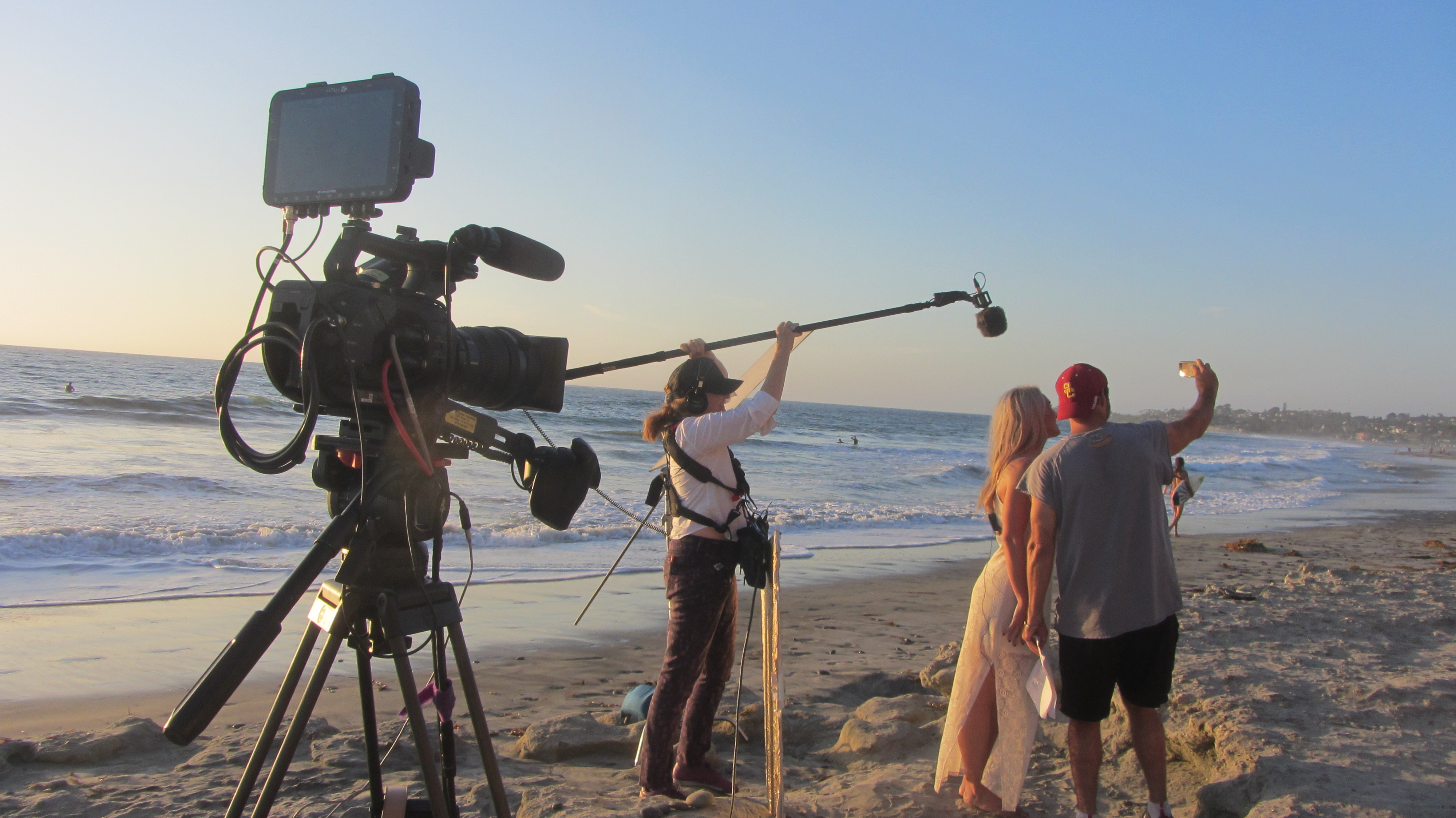 Video Production on Carlsbad Beach