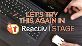 ReactivSTAGE Software- Training Session