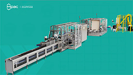 Automated Packaging machine 3D animated visualization